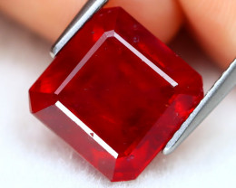 Red Ruby 7.92Ct Radiant Cut Pigeon Blood Red Ruby B2601