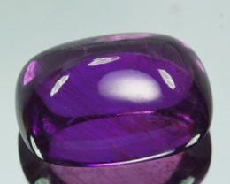 13.62Cts Natural Corundum Sapphire Vivid Purple Blue Sugarloaf Srilanka Gem