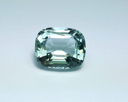 7.10 Cts Excellent Cushion Cut lovely color Eye clean Aquamarine 7.10Cts-P