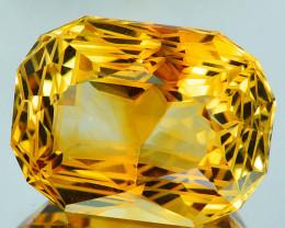 ~CUSTOM CUT~ 16.35 Cts Natural Golden Orange Citrine Fancy Cushion Brazil