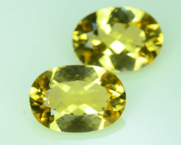 Top Grade Pair 3.25 ct Natural Heliodor ~Yellow ~ K
