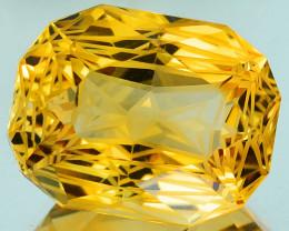 ~CUSTOM CUT~ 15.04 Cts Natural Golden Orange Citrine Fancy Cushion Brazil