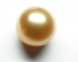 12mm Australian South Sea Gold Pearl Undrilled