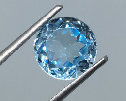 3.10 Carat VVS Topaz Aqua Blue Precision Cut and Polished Quality !