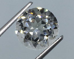 4.85 Carat VVS Topaz - Diamond White Color Precision Cut Quality !