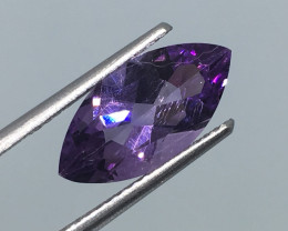 2.25 Carat VVS Amethyst Marquise Precision Cut and Polished !