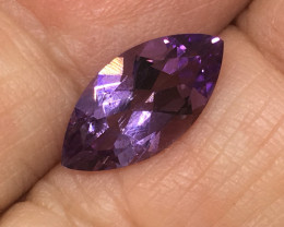 2.00 Carat VVS Amethyst Marquise Precision Cut and Polished !