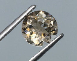 2.65 carat VVS Topaz Champagne Precision Cut Brilliant Flash !