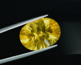 14.96CT BRIGHT YELLOW NATURAL CONCAVE CUT FLUORITE $1NR!