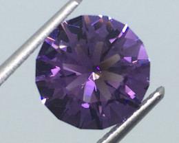 2.87 Carat IF Amethyst Master Cut to Perfection Beyond Beautiful !