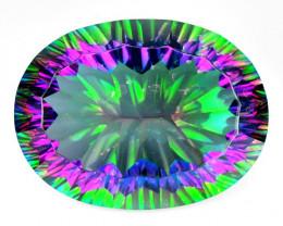Mystic Topaz 26.22 Cts Millennium Cut Natural Gemstone
