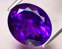 Amethyst 6.12Ct Natural Uruguay Electric Purple Amethyst DF3028/A2