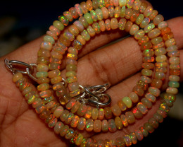 52 Crts Natural Ethiopian Welo Opal Beads Necklace 817