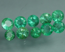 1.730 CRT 10 PCS STUNNING PARCEL COLOMBIAN EMERALD-