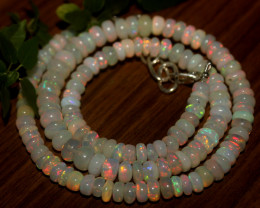 70 Crts Natural Ethiopian Welo Opal Beads Necklace 863