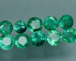 1.935 CRT 10 PCS STUNNING PARCEL COLOMBIAN EMERALD-