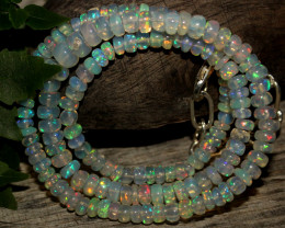 47 Crts Natural Ethiopian Welo Opal Beads Necklace 861