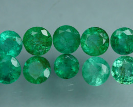 1.980 CRT 10 PCS STUNNING PARCEL COLOMBIAN EMERALD-
