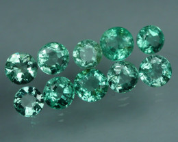 1.735 CRT 10 PCS STUNNING PARCEL COLOMBIAN EMERALD-
