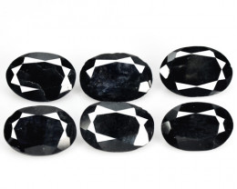 4.34 Cts 6 Pcs Amazing Rare Natural Fancy Black  Sapphire Loose Gemstone
