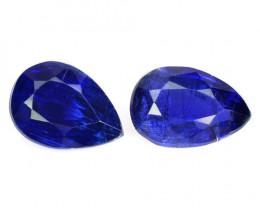 1.96 Cts 2 Pcs Fancy Royal Blue Color Natural Kyanite Gemstone Parcel