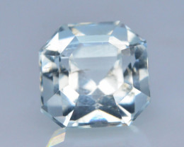 Asscher Cut 2.40 ct Attractive Color Aquamarine ~ GA