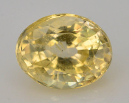 Top Color 1.40 ct Natural Yellow Sapphire