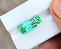 10.90 Ct Natural Greenish Transparent Kunzite Top Quality Gemstone