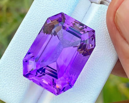 34.30 Ct Natural Purple Transparent Big Size Amethyst Gemstone