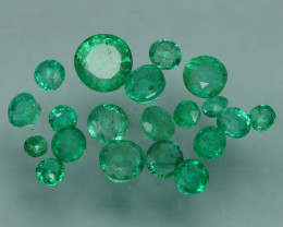 1.245 CRT 20 PCS STUNNING PARCEL COLOMBIAN EMERALD-