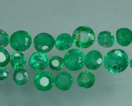 1.195 CRT 20 PCS STUNNING PARCEL COLOMBIAN EMERALD-
