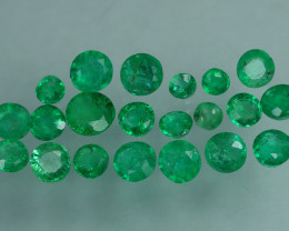 1.445 CRT 21 PCS STUNNING PARCEL COLOMBIAN EMERALD-