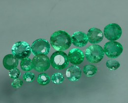 1.070 CRT 21 PCS STUNNING PARCEL COLOMBIAN EMERALD-