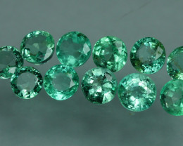 2.055 CRT 11 PCS STUNNING PARCEL COLOMBIAN EMERALD-