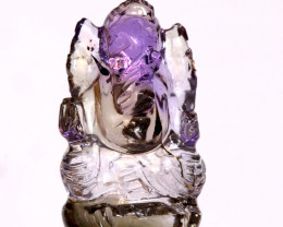 16.75 CTS AMETRINE CARVING-INDIAN LORD GANESH LT-329