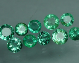 1.550 CRT 10 PCS STUNNING PARCEL COLOMBIAN EMERALD-