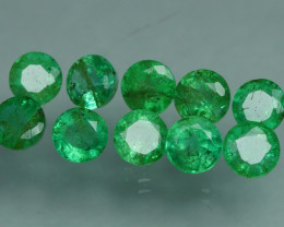 1.970 CRT 10 PCS STUNNING PARCEL COLOMBIAN EMERALD-