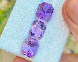 6.90 Ct Natural Purplish Transparent Amethyst Gemstones Parcels