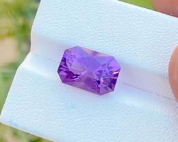 5.25 Ct Natural Purplish Transparent Amethyst Ring Size Gemstone