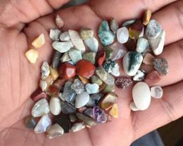 100 Carats Mixed Gemstones Tumbled Chips  100% Natural & Untreated VA4492