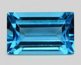 3.97 Carat London Blue Natural Topaz Gemstone