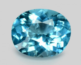 1.18 Cts Un Heated Natural Blue Apatite Loose Gemstone