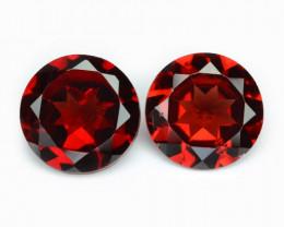 2.68 Cts 2 Pcs Unheated Natural Cherry Pinkish Red Rhodolite Garnet Gemston