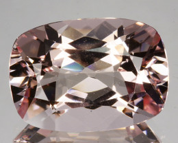 10.30 Cts Natural Peach Pink Morganite 17x12mm Cushion Cut Brazil