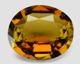 2.27 Cts Un Heated Yellow Color Natural Tourmaline Loose Gemstone