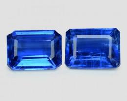 3.34 Cts 2 Pcs Fancy Royal Blue Color Natural Kyanite Gemstones