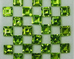 17.01Ct Natural Green Peridot 8mm Square 5mm Parcel