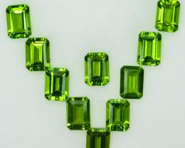 Parrot Green 10.72Ct Natural Green Peridot Octagon 7 X 5 Parcel