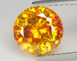 Sphalerite 2.75 Cts Dalia Cut Incredible Orange yellow BGC659