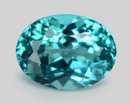 1.17 Cts Un Heated Natural Blue Apatite Loose Gemstone